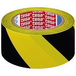 Traka za označavanje ljepljiva 50mm/33m pvc Tesa 60760-93 crno-žuta