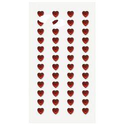Naljepnice ukrasne Kristali srca crvena Heyda 20-37829 15 blister