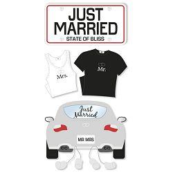 Naljepnice ukrasne 3D Vjenčanje Heyda 20-37806 12 blister