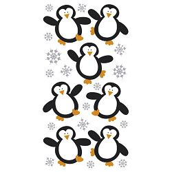 Naljepnice božićne 3D Pingvini Heyda 20-37806 76 blister!!