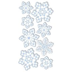 Naljepnice božićne 3D Pahulje Heyda 20-37806 79 blister