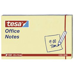 Blok samoljepljiv 125x75mm 100L Office notes Tesa 57655 žuti