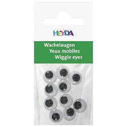 Oči pomične 10mm samoljepljive pk10 Heyda 20-48881 10 blister