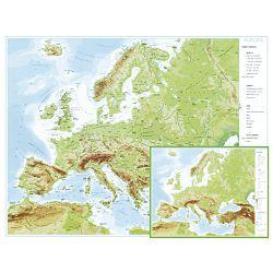 Karta Europe 56x49 plastificirana obostrana