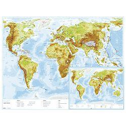 Karta svijeta 56x49 plastificirana obostrana Trsat