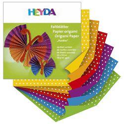 Papir Origami 15x15cm 70g pk66 točkasti Heyda 20-48755 52