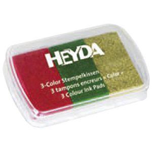 Jastučić za pečat 3 boje (crvena, zelena, zlatna) Heyda 20-48884 67