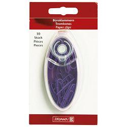Kutija za spajalice ovalna+poklopac Color Code Brunnen 10-20672 60 ljubičasta blister!!