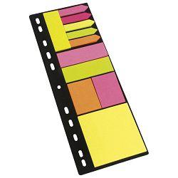 Blok samoljepljiv uložni za A4 (11blx25l) papir Global Notes 8748-09 sortirano blister