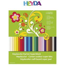 Kolaž - blok A4 24 lista 220g papir u boji Heyda 20-51718 09!!