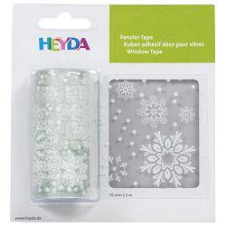 Traka Deco ljepljiva za staklo Pahulje Heyda 20-35844 82 prozirna blister