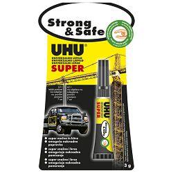 Ljepilo trenutačno 3g Super Strong&Safe UHU L0180020 blister