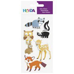 Naljepnice ukrasne 3D Životinje šumske Heyda 20-37806 92 blister