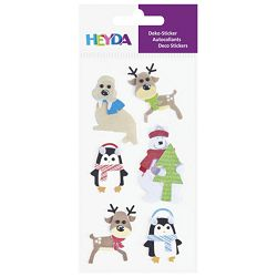 Naljepnice ukrasne 3D snježne životinje Heyda 20-37807 01 blister