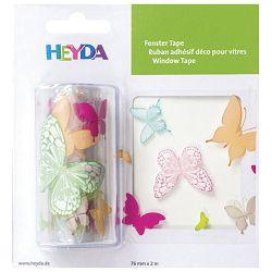 Traka Deco ljepljiva za staklo Leptiri Heyda 20-35844 84 prozirno šarena