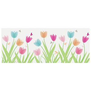Traka Deco ljepljiva za staklo Tulipani Heyda 20-35844 85 prozirno šarena