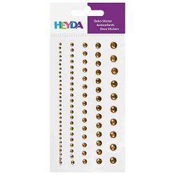 Naljepnice ukrasne Perle-sortirano Heyda 20-37829 46 zlatno prozine blister