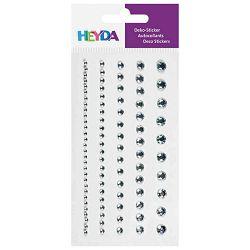 Naljepnice ukrasne Perle-sortirano Heyda 20-37829 47 kristalno prozirne blister