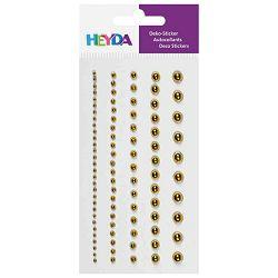 Naljepnice ukrasne Perle-sortirano Heyda 20-37829 53 zlatno sjajne blister