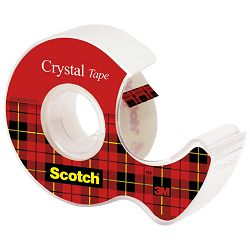 Traka ljepljiva nevidljiva 19mm/ 7,5m Scotch Crystal 3M.blister