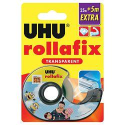 Traka ljepljiva nevidljiva 25m+5m gratis Rollafix BTS UHU