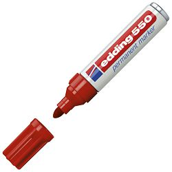 Marker permanentni 3-4mm Edding 550 crveni