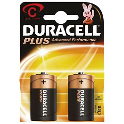 Baterija alkalna 1,5V C Basic pk2 Duracell LR14 blister