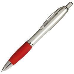 Olovka kemijska grip 11681 (8916B) srebrna/crvena