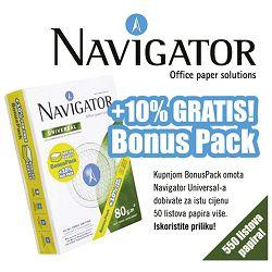 Papir ILK Navigator A4 80g Universal pk550+bonus-10% gratis (50 listova više)