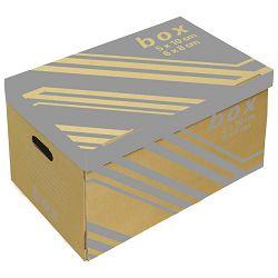 Kutija arhivska-kontejner za 6 registratora s poklopcem Fornax smeđa
