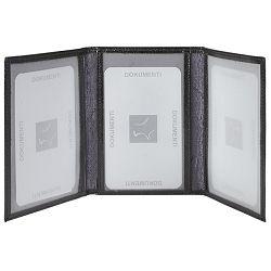 Etui za dokumente koža Galko 30-0034-1111 crni