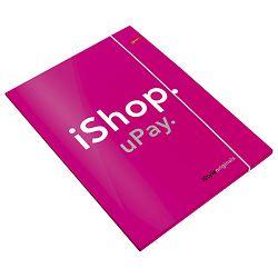 Fascikl klapa s gumicom mat+lak A4 iStyle Connect neon pink!!