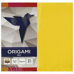 Papir Origami 14x14cm 80g pk100 mix Interdruk