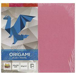 Papir Origami 20x20cm 80g pk100 fluo+pastel Interdruk