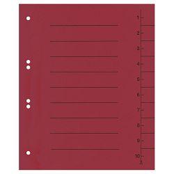 Pregrada kartonska A4 250g pk100 Fornax crvena