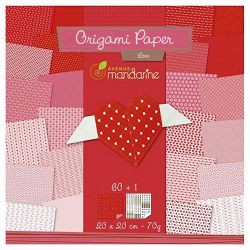 Papir Origami 20x20cm 70g pk60 Love Avenue Mandarine Clairefontaine OR500O