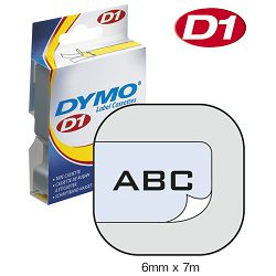Vrpca D1  6mmx7m Dymo 43610 crno-prozirna