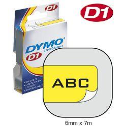 Vrpca D1  6mmx7m Dymo 43618 crno-žuta