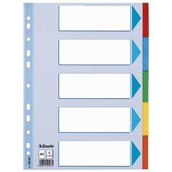 Pregrada kartonska A4 kolor  5listova Esselte 100191