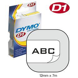 Vrpca D1 12mmx7m Dymo 45013 crno-bijela