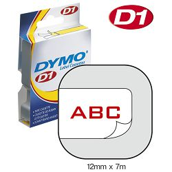 Vrpca D1 12mmx7m Dymo 45015 crveno-bijela
