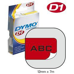 Vrpca D1 12mmx7m Dymo 45017 crno-crvena