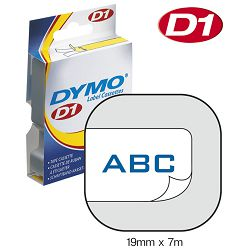 Vrpca D1 19mmx7m Dymo 45804 plavo-bijela