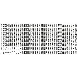 Set od 288 slova/brojki/znakova H-4mm Trodat 6004