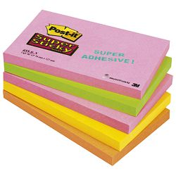 Blok samoljepljiv 127x76mm  5x90L Post-it SuperSticky 3M.655SN