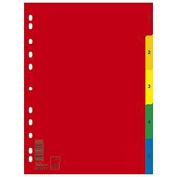 Pregrada plastična A4 brojevi 1- 5 kolor Donau 7708095PL-99