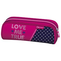 Pernica vrećica/pravokutna Love jeans Connect rozo-plava!!