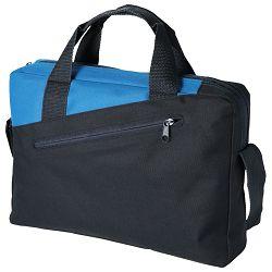Torba poslovna 34,5x6x24cm crno/zagrebačko plava