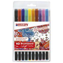 Flomaster brushpen 10boja Edding 1340/10 blister