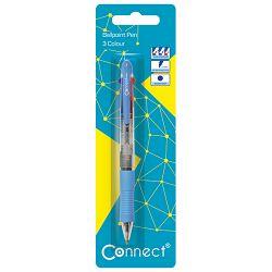 Olovka kemijska trobojna Connect sortirano blister